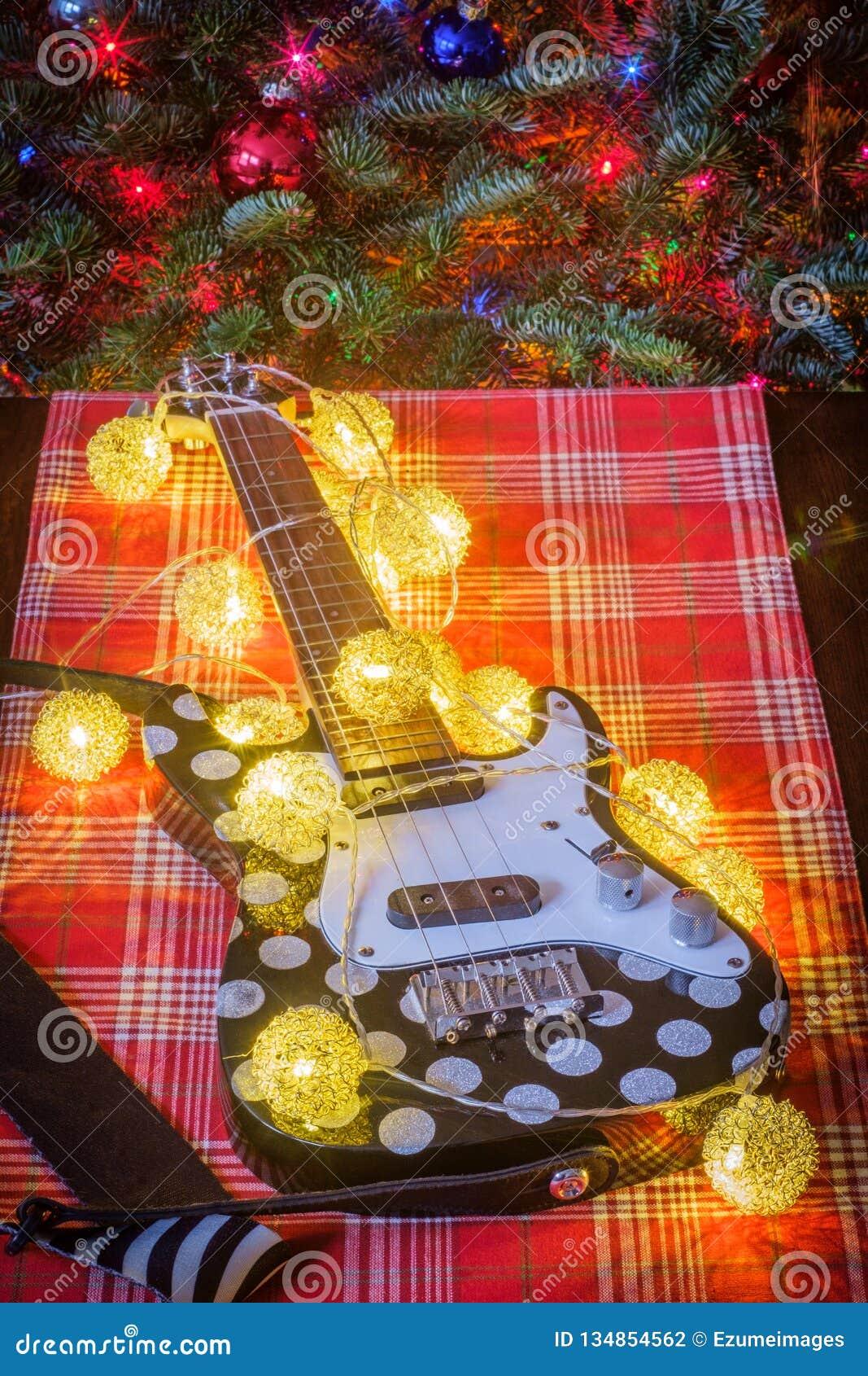 Christmas Music Ukulele Tree Stock Photo Image Of Musical