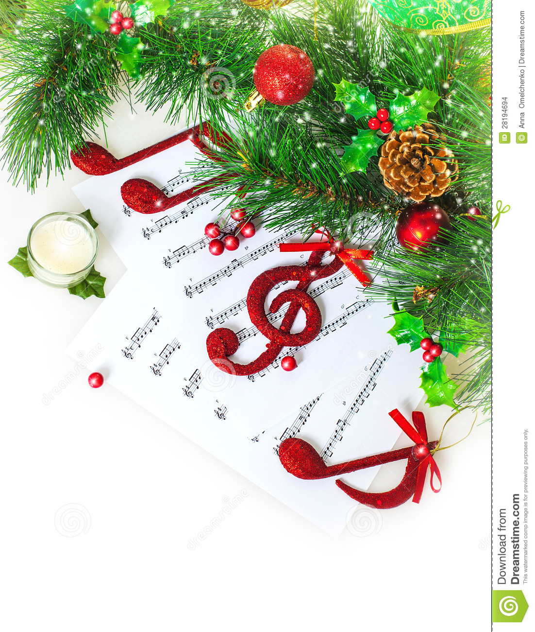 christmas musical border stock photo image of card party 28194694 rh dreamstime com christmas musical clip art christmas music clipart free
