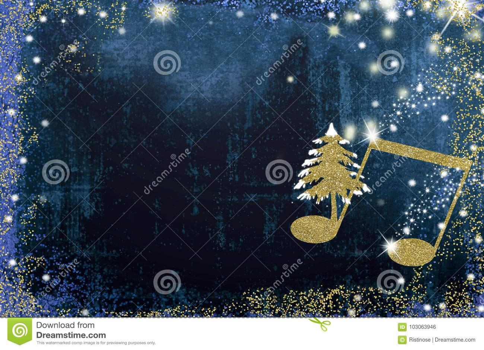 Christmas Musical Greeting Card Stock Illustration Illustration