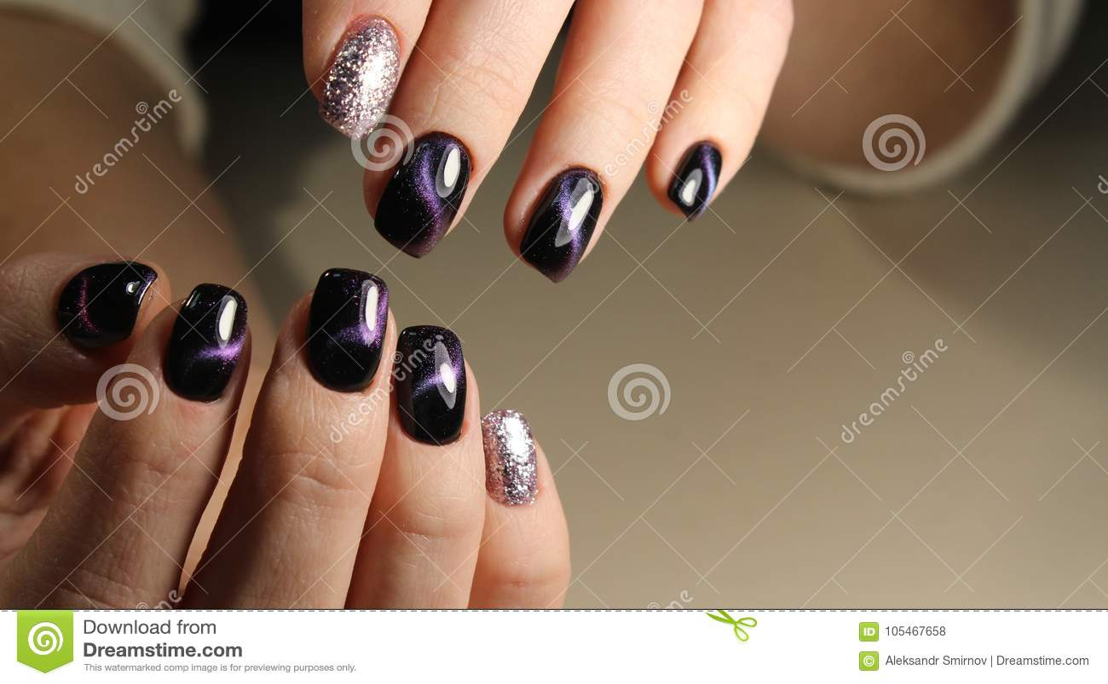 Christmas Nail Art Manicure Stock Photo Image Of Design Style