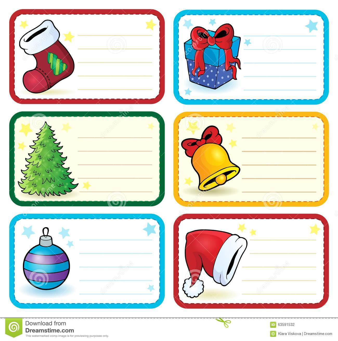 christmas name tags collection 4 stock vector illustration of