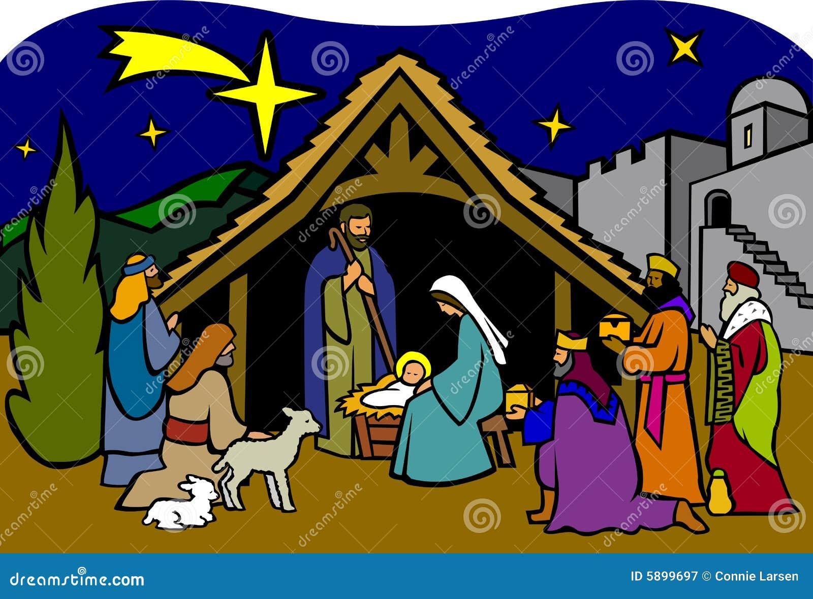 christmas nativity  eps stock illustration illustration of Free Christmas Clip Art Free Transparent Christmas Borders
