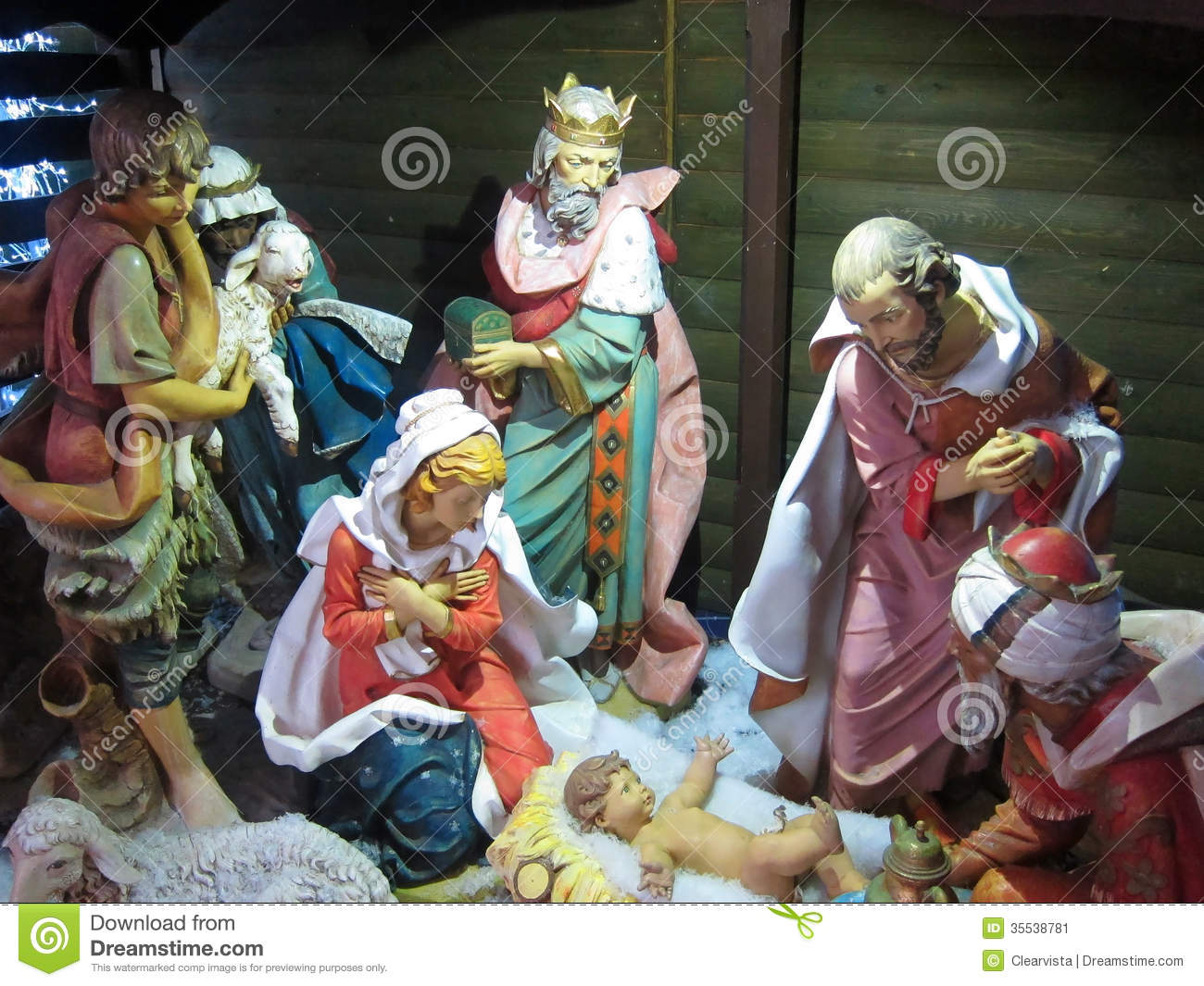 Christmas Nativity Jesus Birth Three Kings Stock Image Image Of Frankincense Gold 35538781