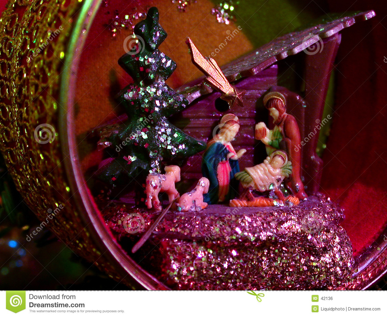 Christmas nativity ornament scene