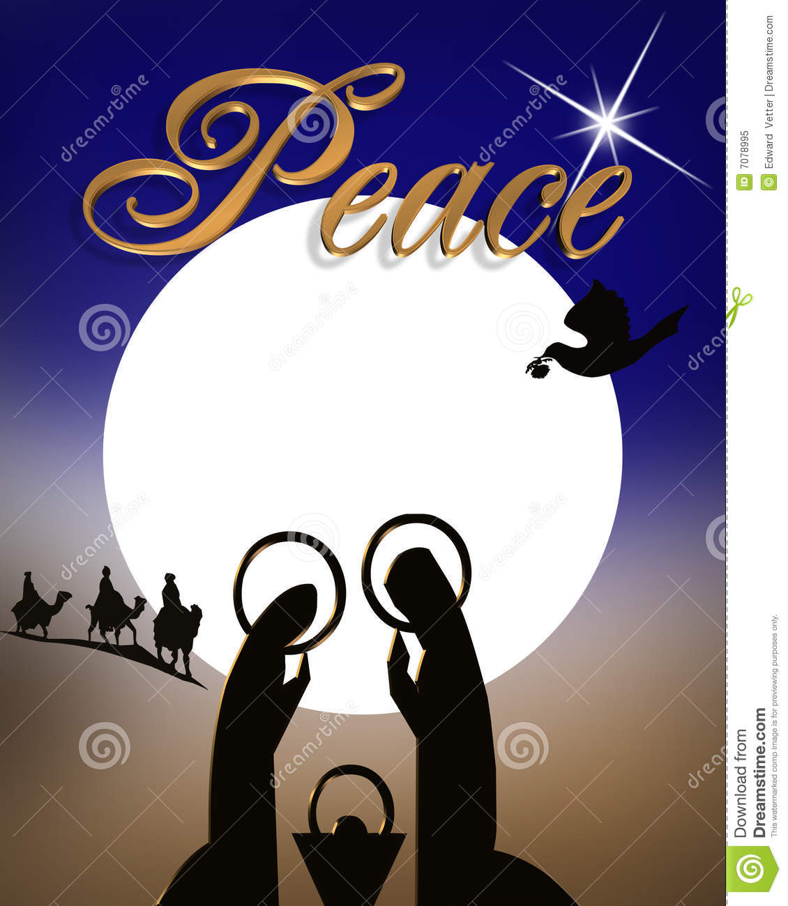 christmas nativity religious abstract 7078995