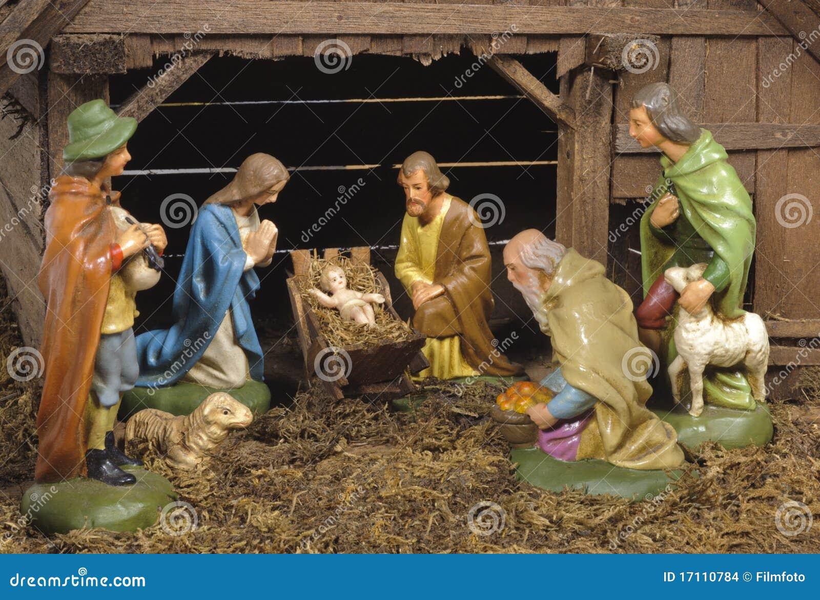 Christmas Nativity Scene Stock Images Image 17110784