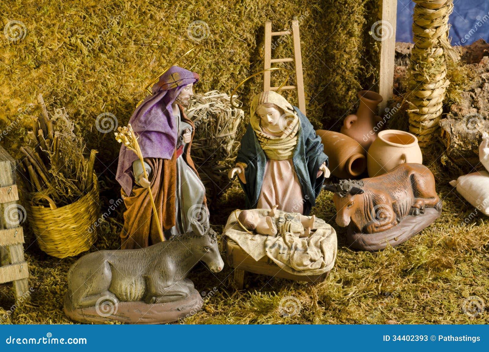 Christmas Nativy Scene Stock Image Image Of Jesus Manger