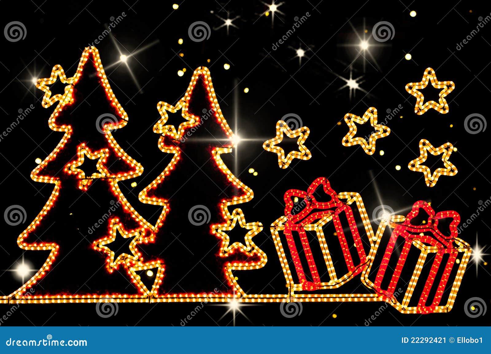 download christmas neon lights stock image image of abstract 22292421