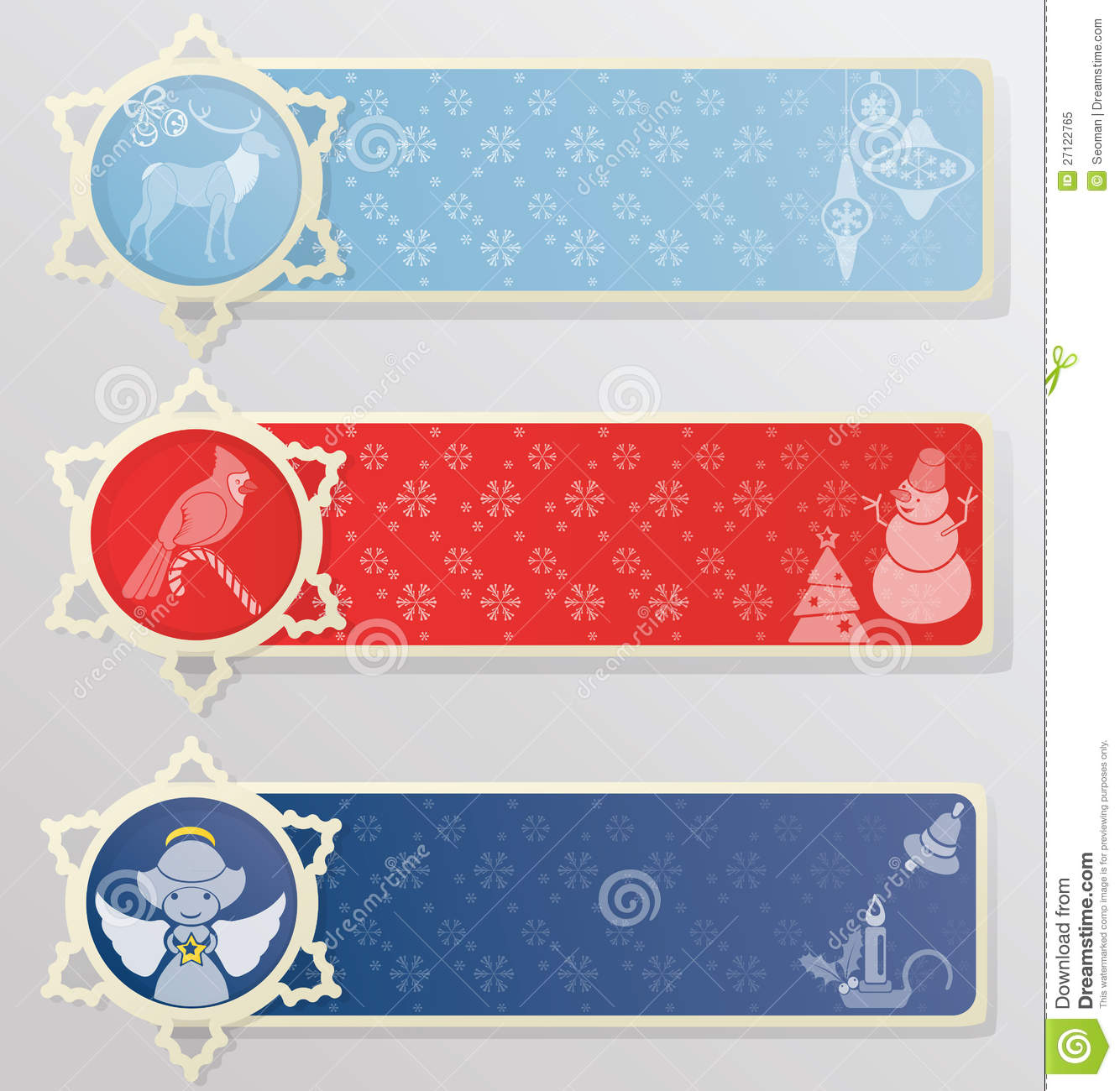 christmas or new year banner background