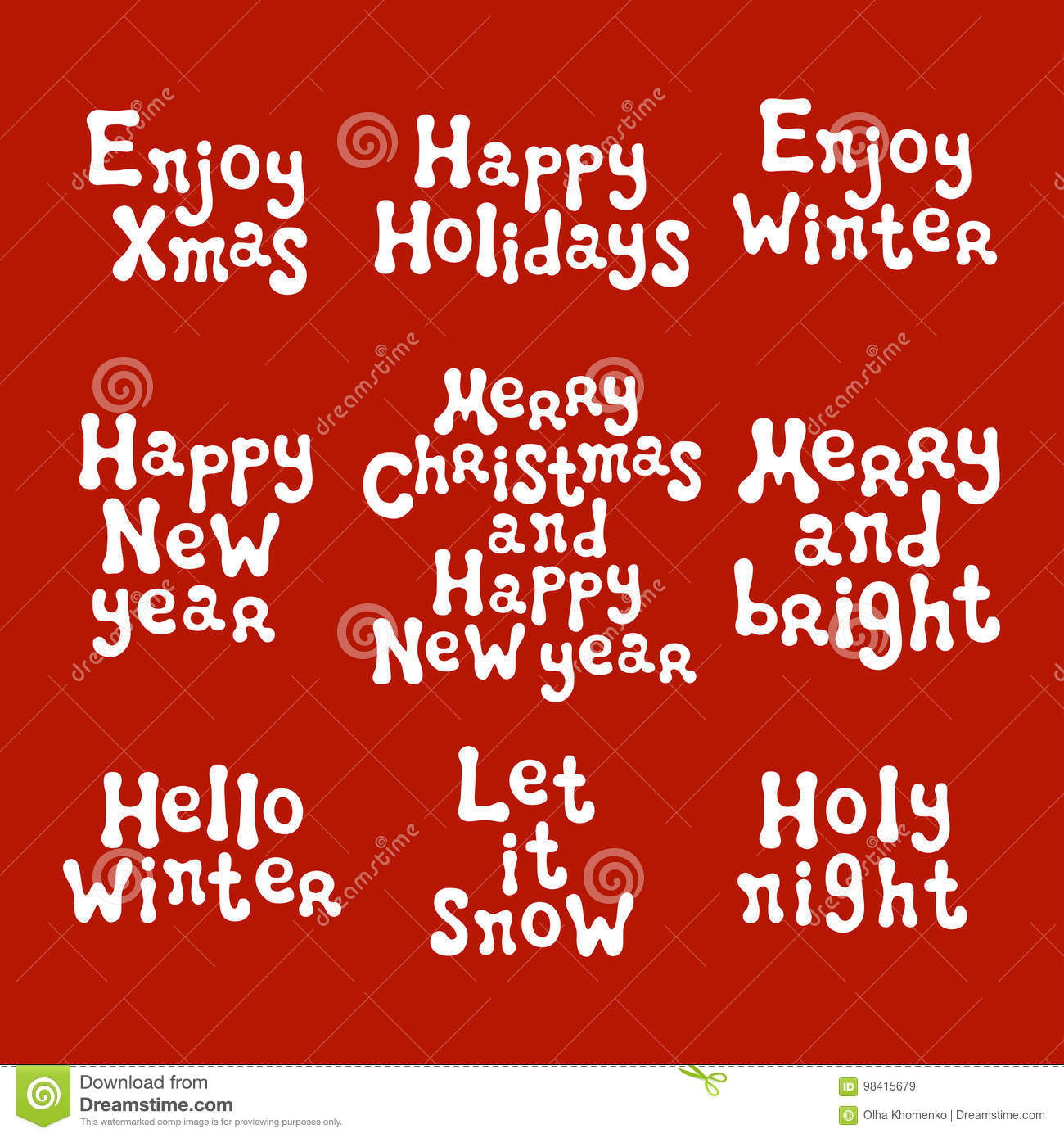 Christmas and new year calligraphy phrases set handwritten brush handwritten brush seasons lettering collection xmas phrases hand drawn design elements happy holidays greeting card text christmas calligraphy m4hsunfo