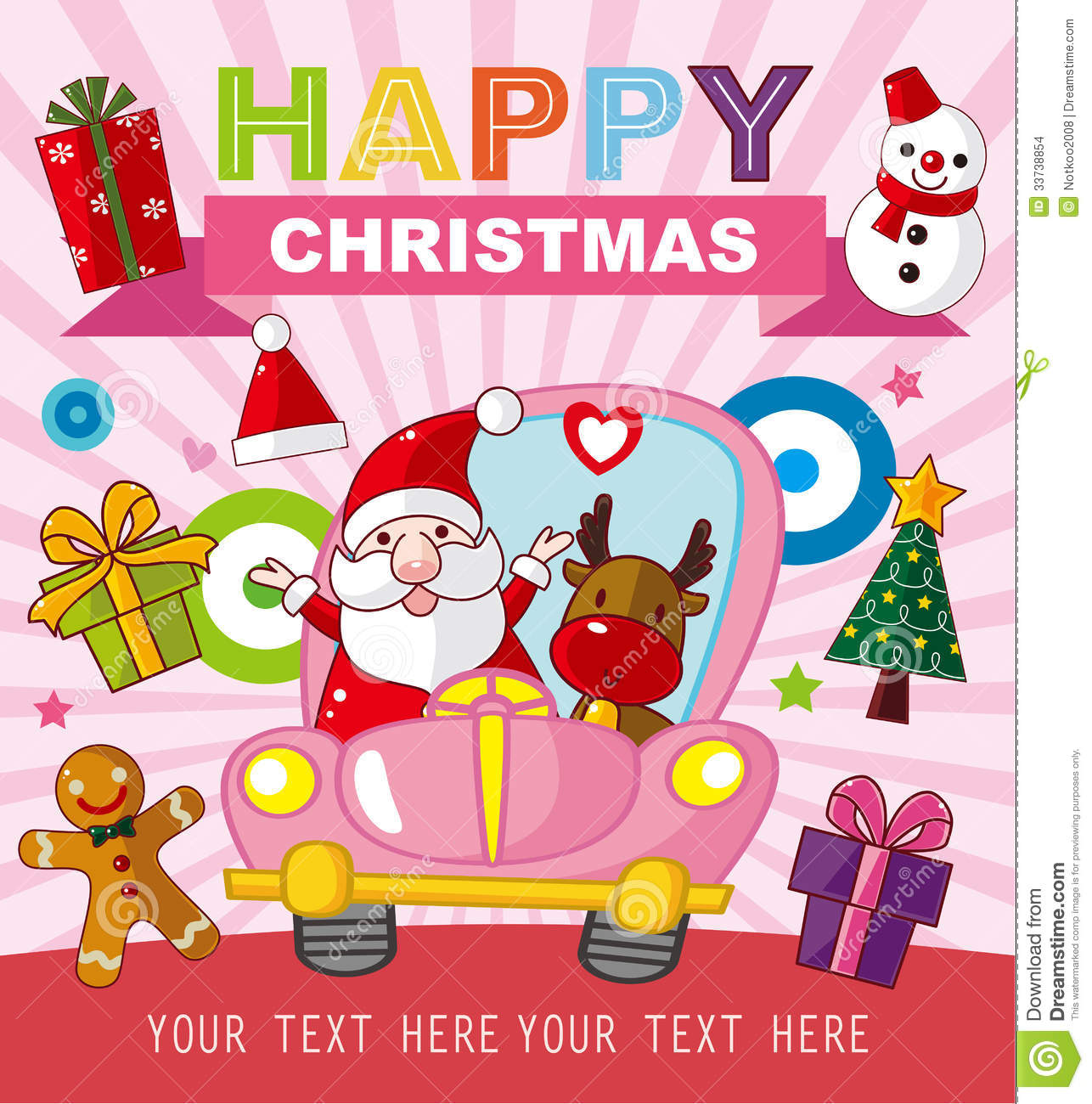 christmas and new year card stock vector