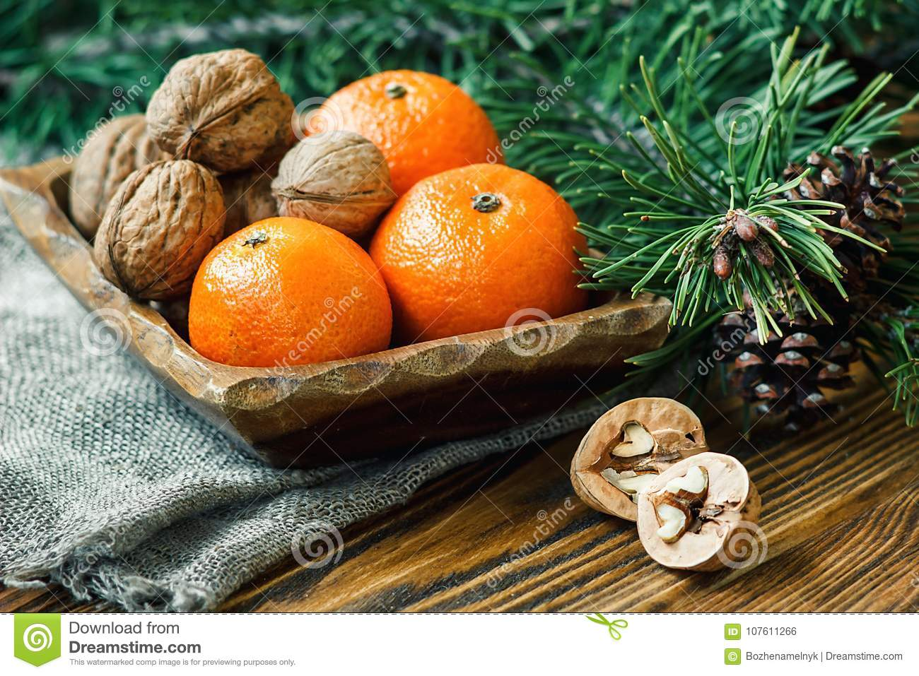 Clementine For Christmas.Christmas New Year Composition Winter Holiday Celebration