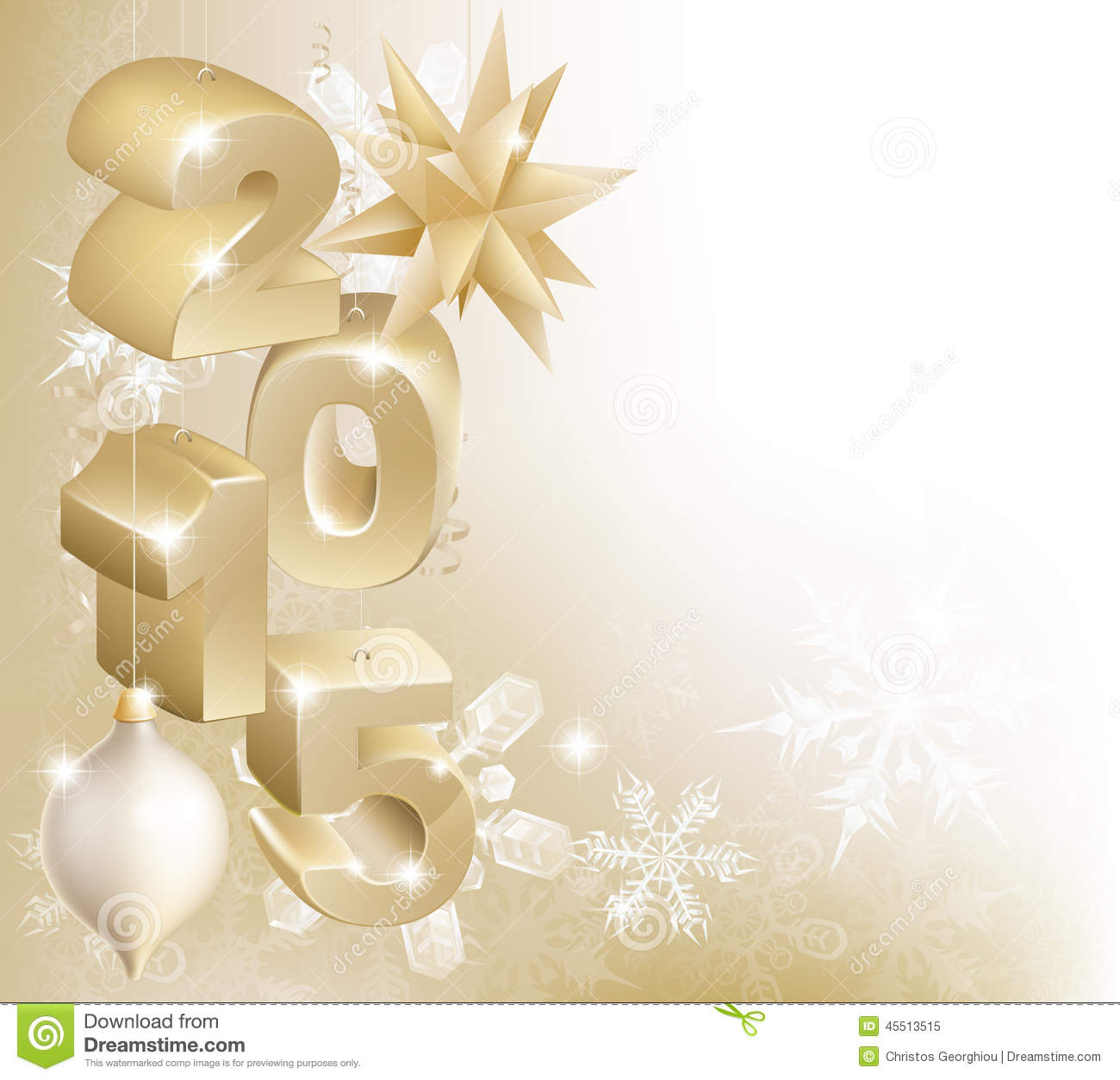 2015 christmas or new year decorations stock vector for Background decoration images