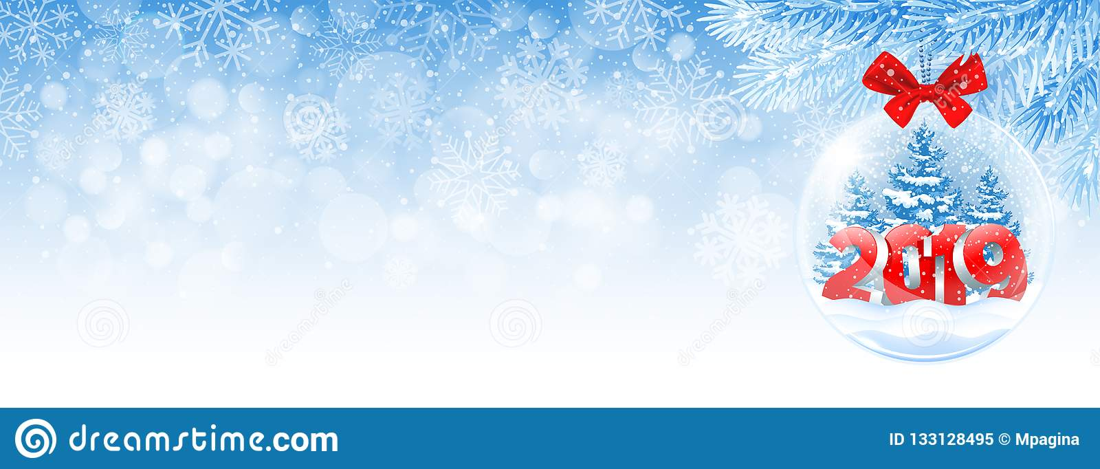 Christmas Facebook Cover Photo.Christmas And New Year Facebook Cover Stock Vector