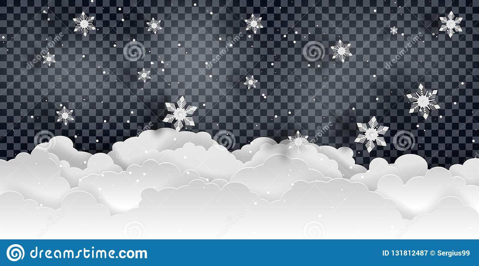 Christmas and new year. Falling snow vector