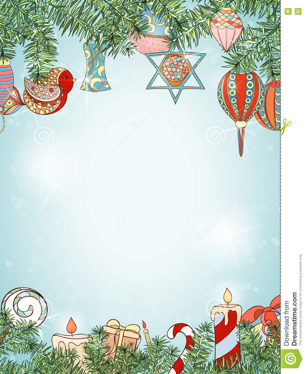 christmas and new year fir invitation card