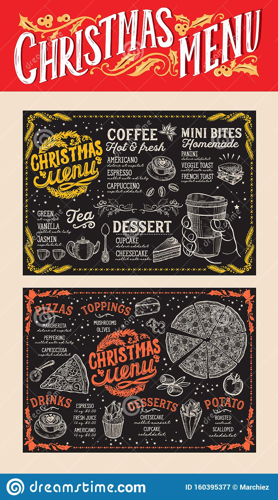 Holiday Menu Template from thumbs.dreamstime.com
