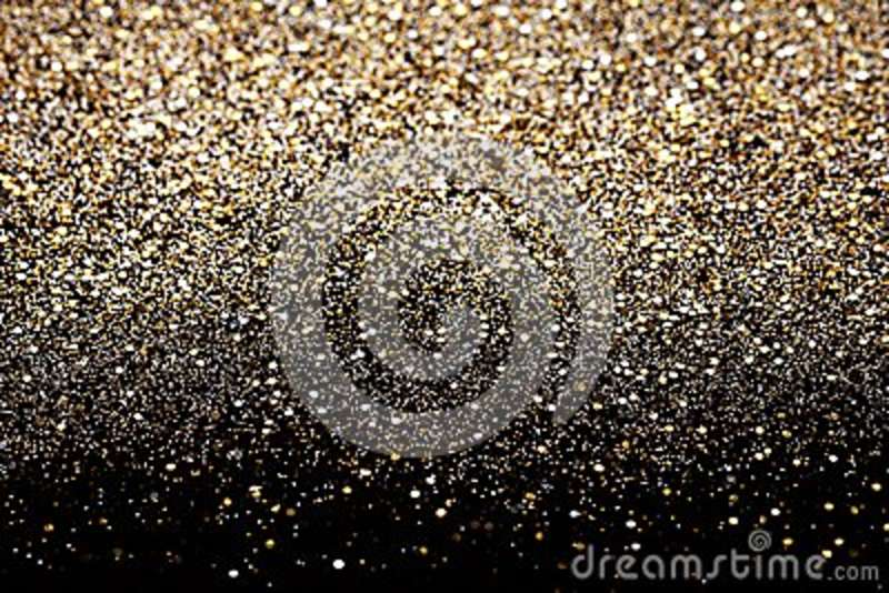 Christmas New Year Gold and Silver Glitter background. Holiday abstract texture