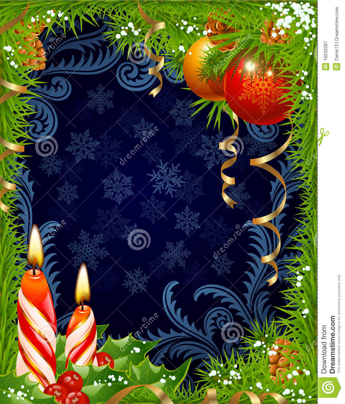 Christmas And New Year Greeting Card 3 Stock Vector Illustration