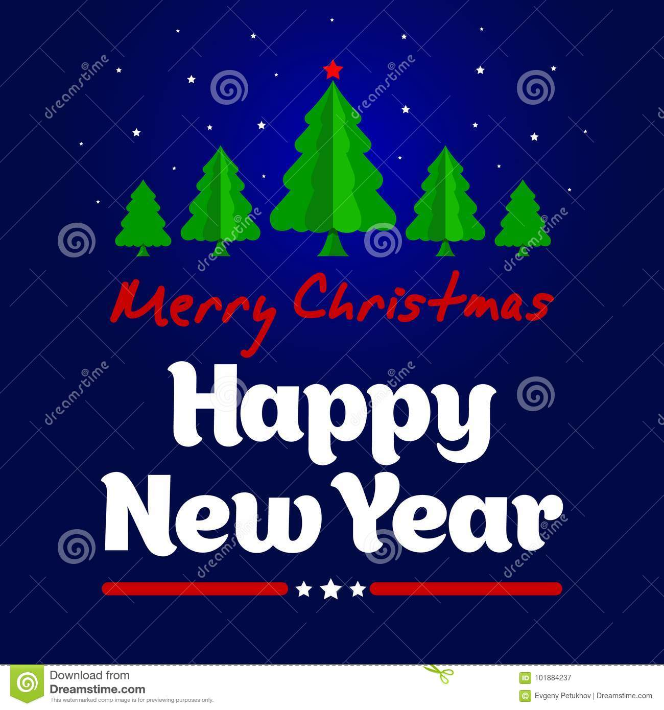 christmas and new year greeting card happy new year template for drawing a greeting