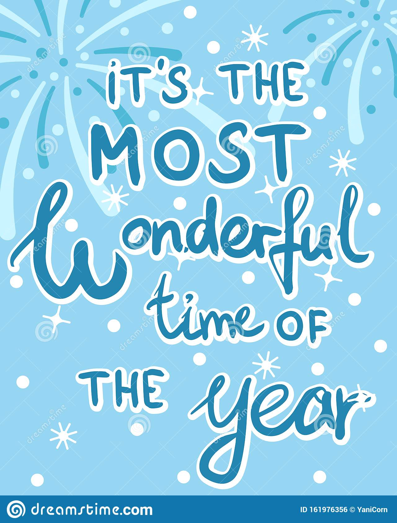Christmas And New Year Greeting Card With Lettering, Most ...