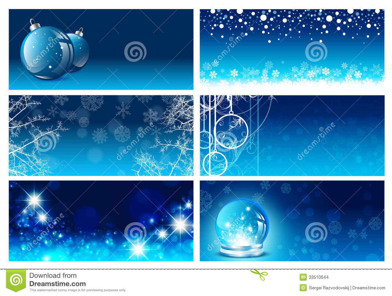 Christmas And New Year Greeting Card Templates Stock Vector ...
