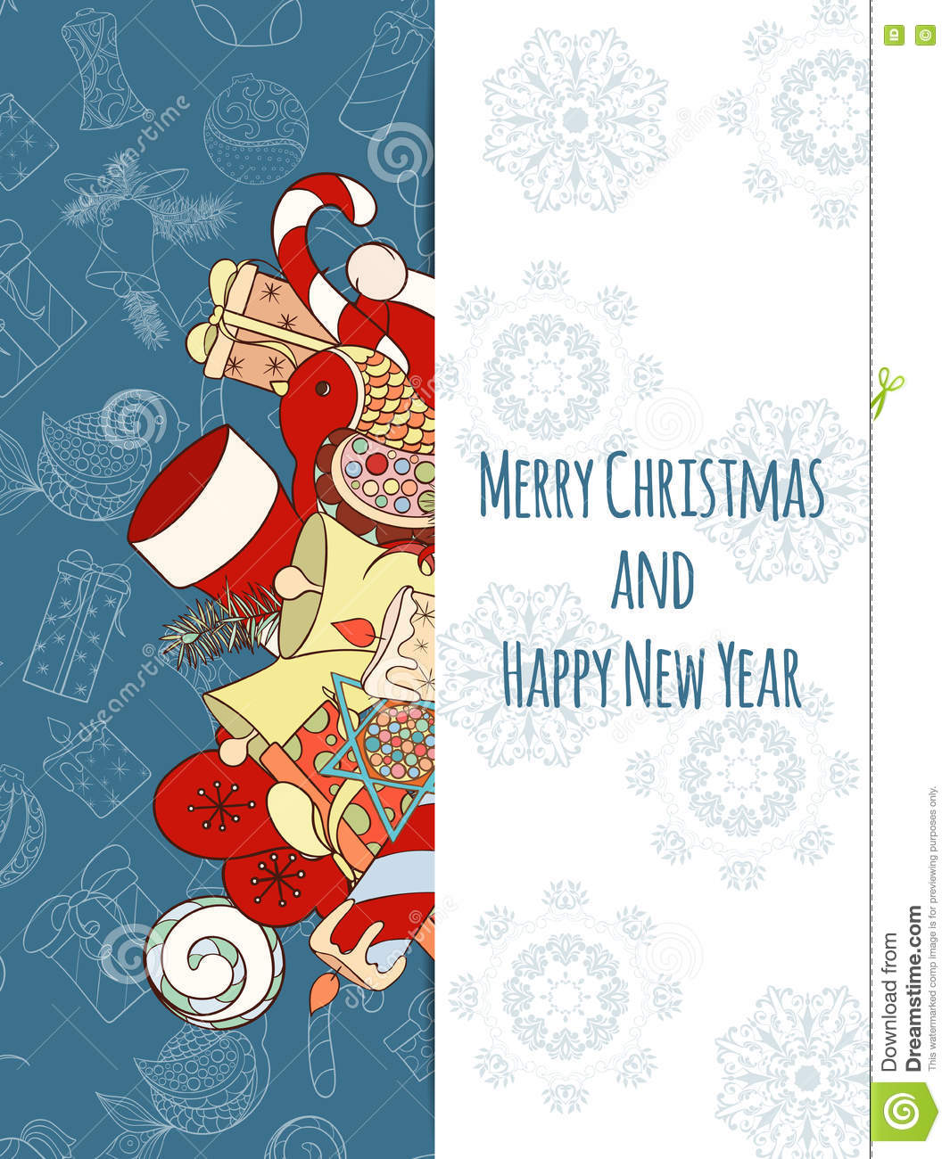 Christmas And New Year Invitation Card Stock Vector