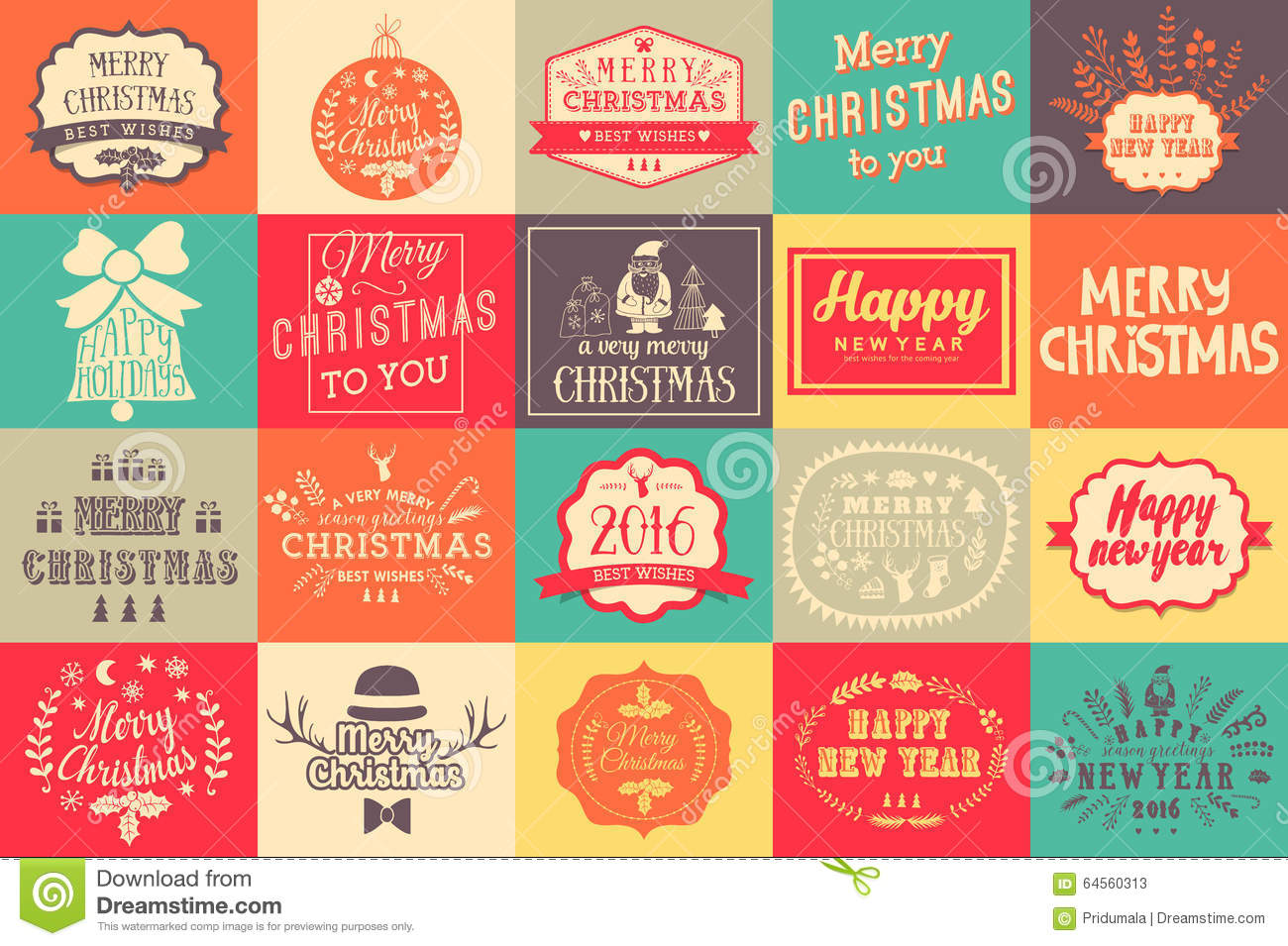 download christmas and new year labels set christmas design elements stock vector illustration