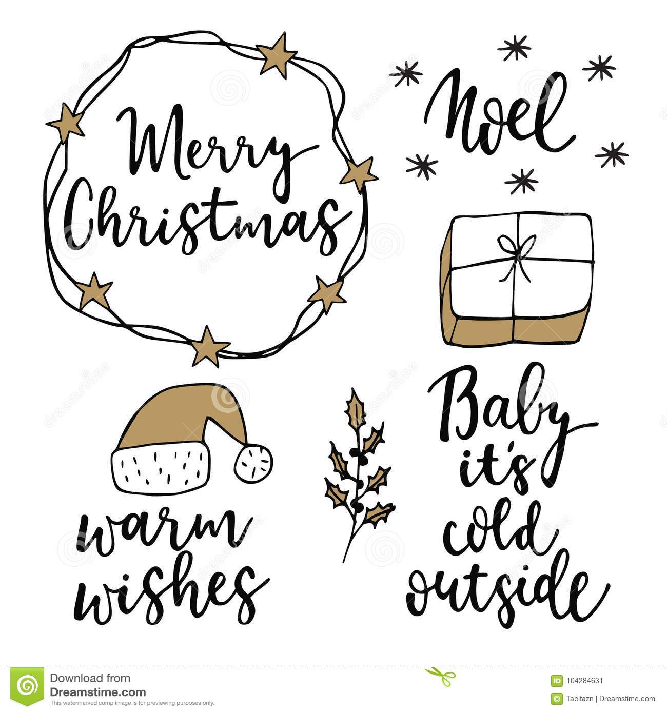 Christmas and new year lettering set hand lettered quotes for christmas and new year lettering set hand lettered quotes for greeting cards gift tags m4hsunfo