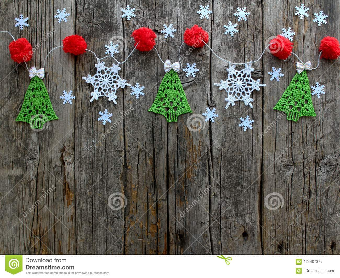 Christmas And New Year Natural Wooden Old Textured Background Stock
