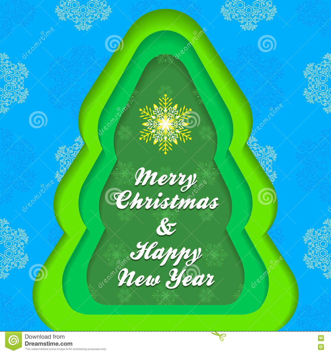 christmas new year postcard template