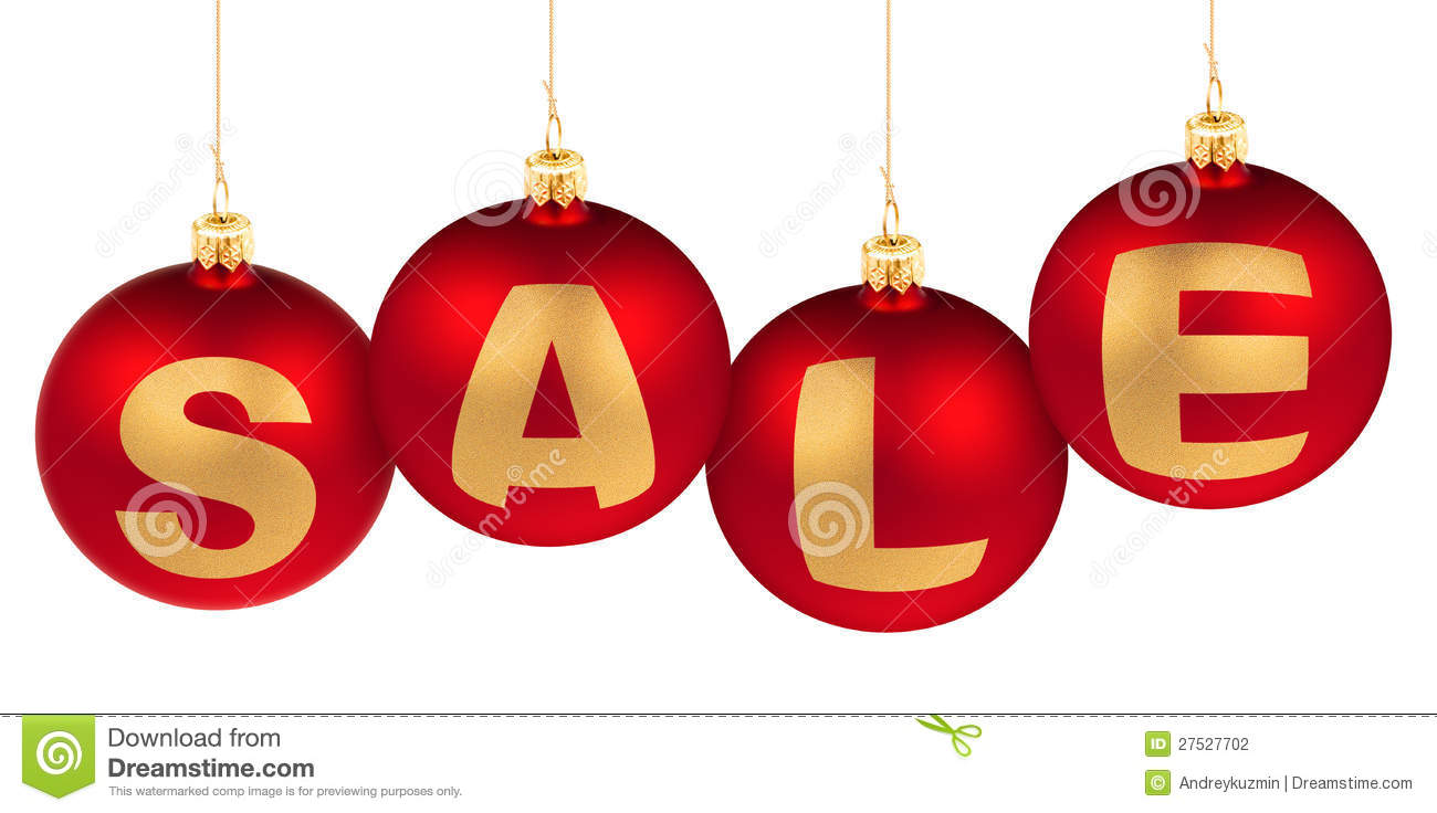 Christmas or new year sale concept stock photography for Another word for christmas decoration
