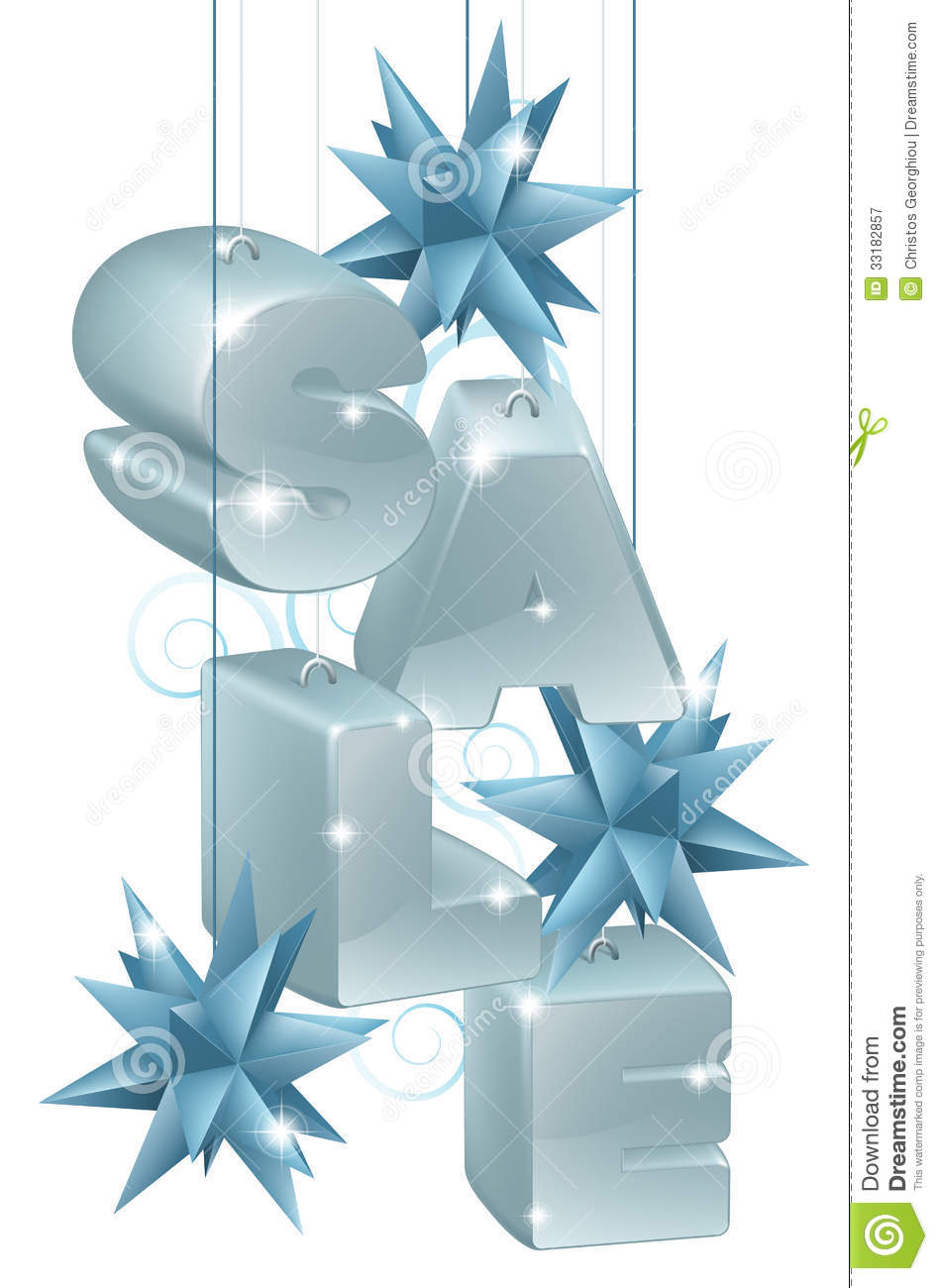 Christmas Or New Year Sale Ornaments Stock Vector ...