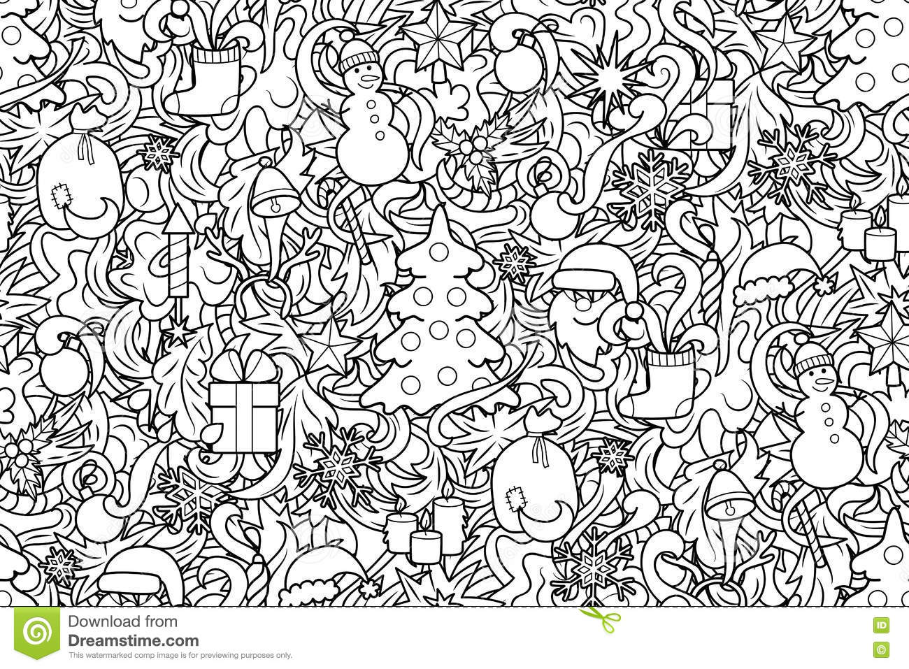 Christmas And New Year Seamless Pattern Stock Vector