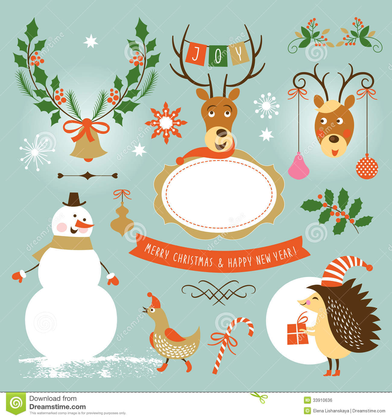 All graphics newest royalty free stock photos stock illustrations - Christmas And New Year Set Of Graphic Elements Royalty Free Stock Image