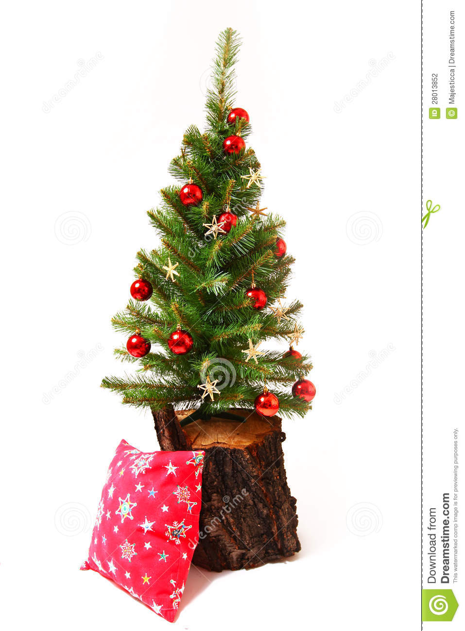 Christmas and new year tree stump stock photography