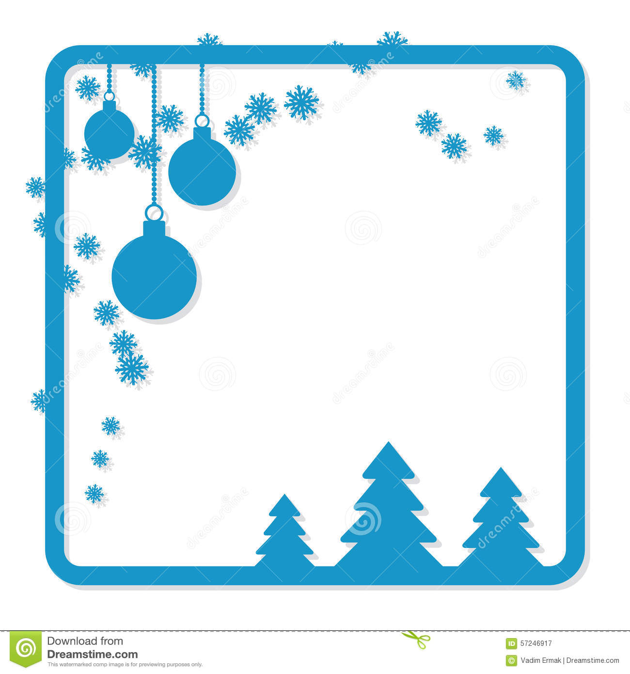 christmas and new year vector frame