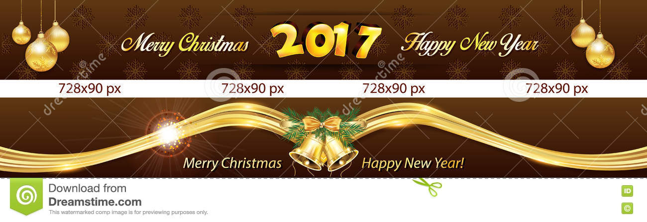 christmas and new year 2017 web banners