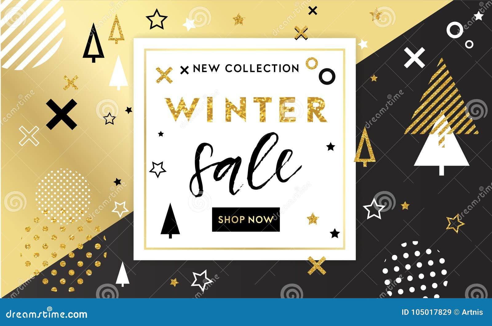 Christmas, New Year, Winter Poste Stock Vector - Illustration of ...