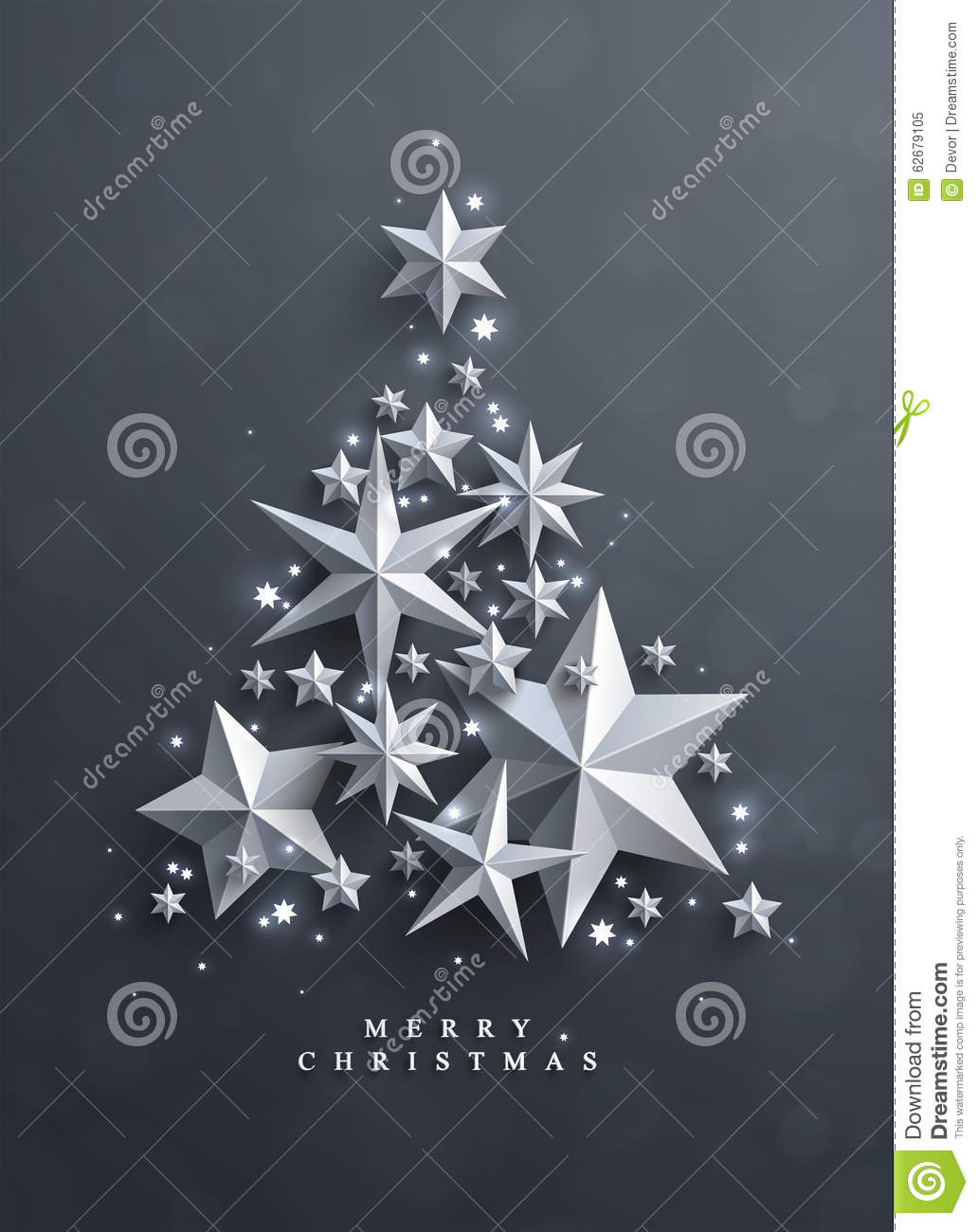 Christmas and New Years background with frame made of stars