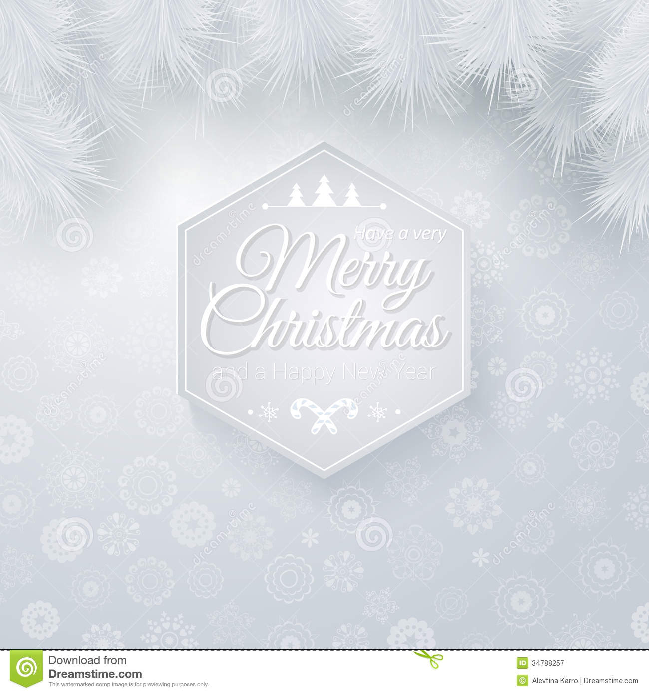 Christmas And New Years Card In Cutout Paper Style Royalty Free ...