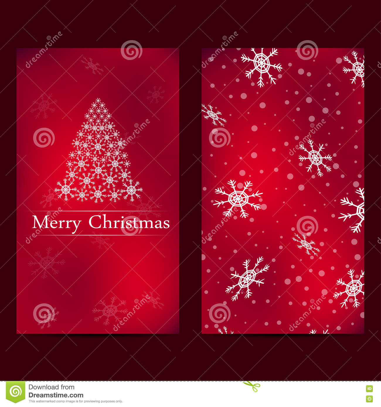 Christmas and New Years card with red background