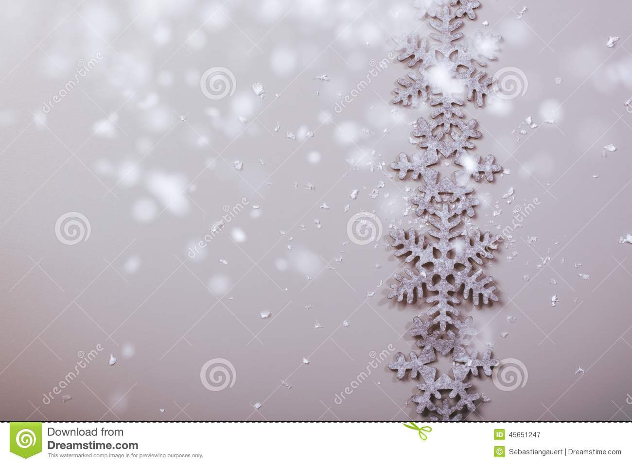 christmas and new years snowflake background stock photo