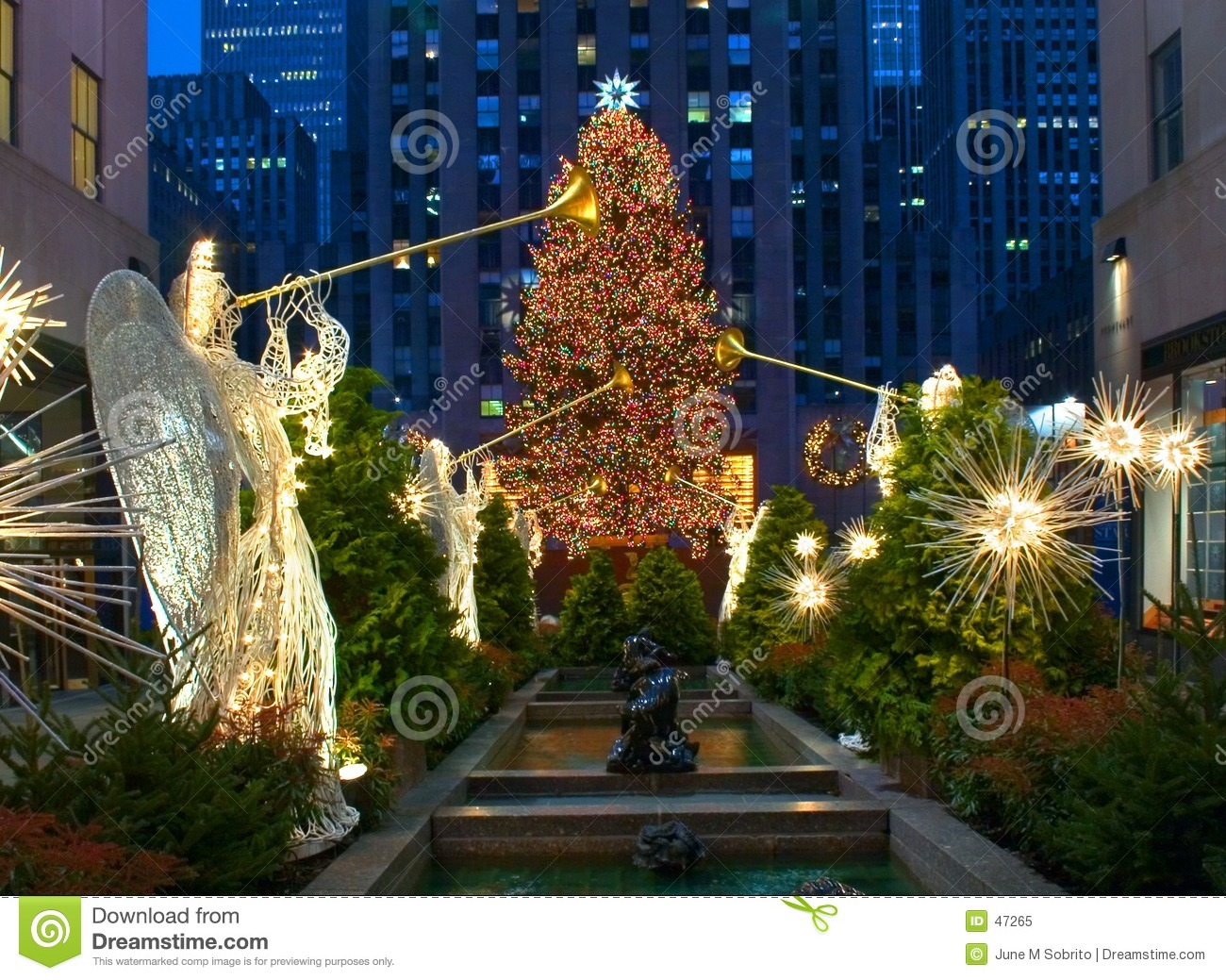 Christmas In New York Editorial Image Image Of Angels Tree 47265