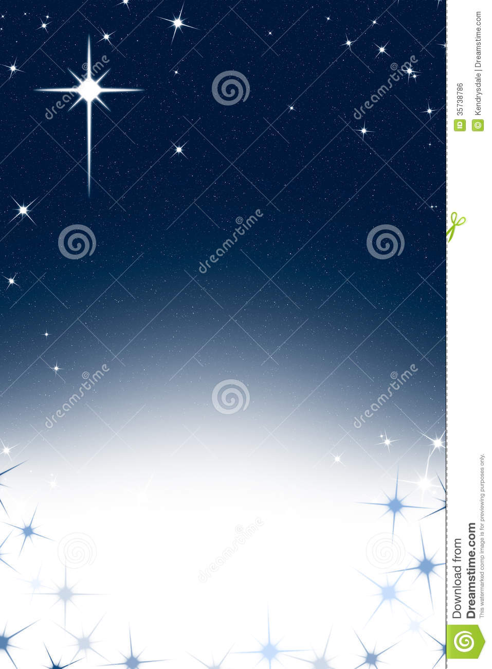 christmas night sky background with stars blue white