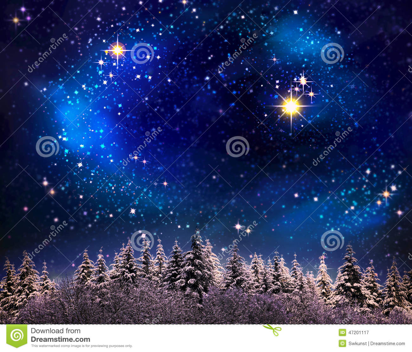 Christmas Night Sky Background. Stock Illustration - Image: 47201117