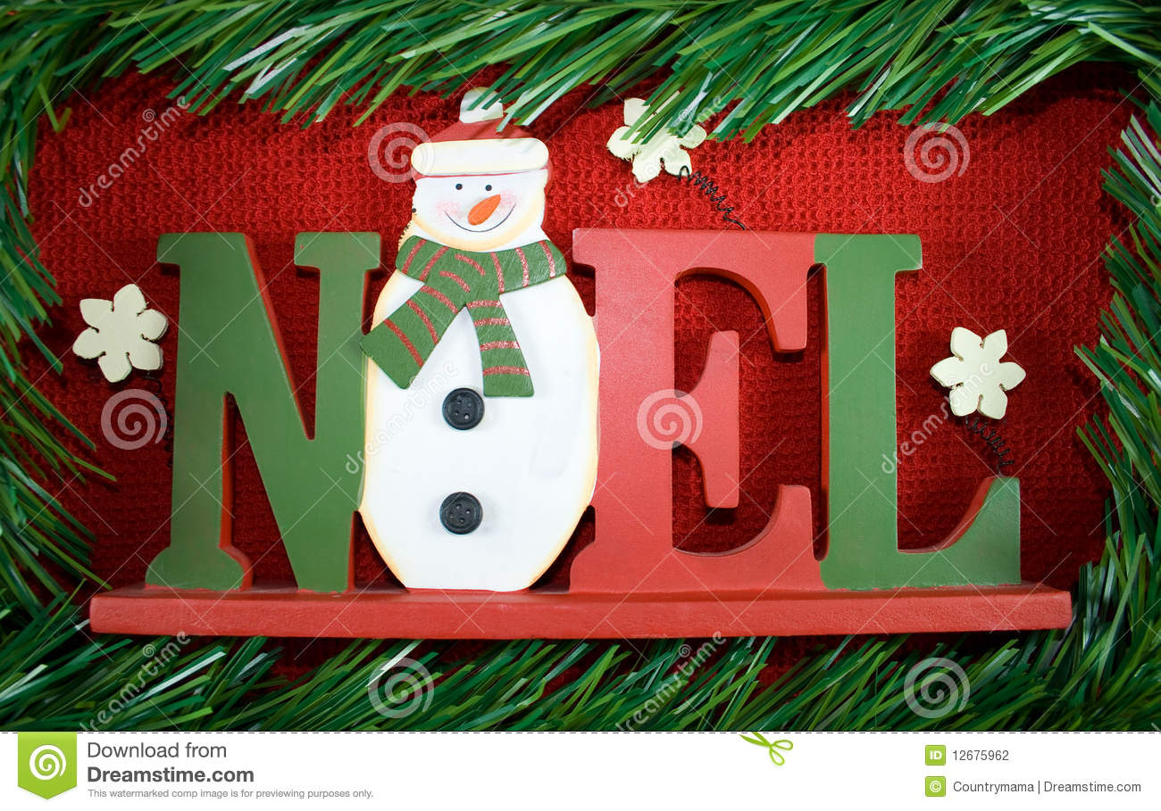 Christmas NOEL sign. stock photo. Image of decor, frame - 12675962