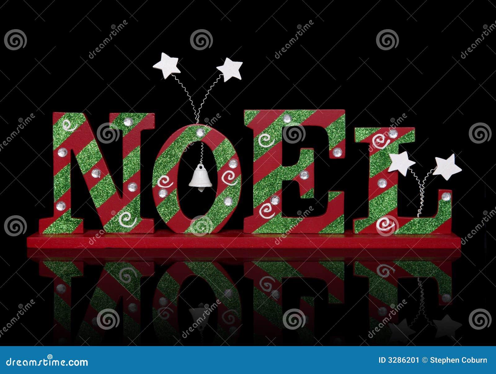 Christmas Noel Sign Stock Image