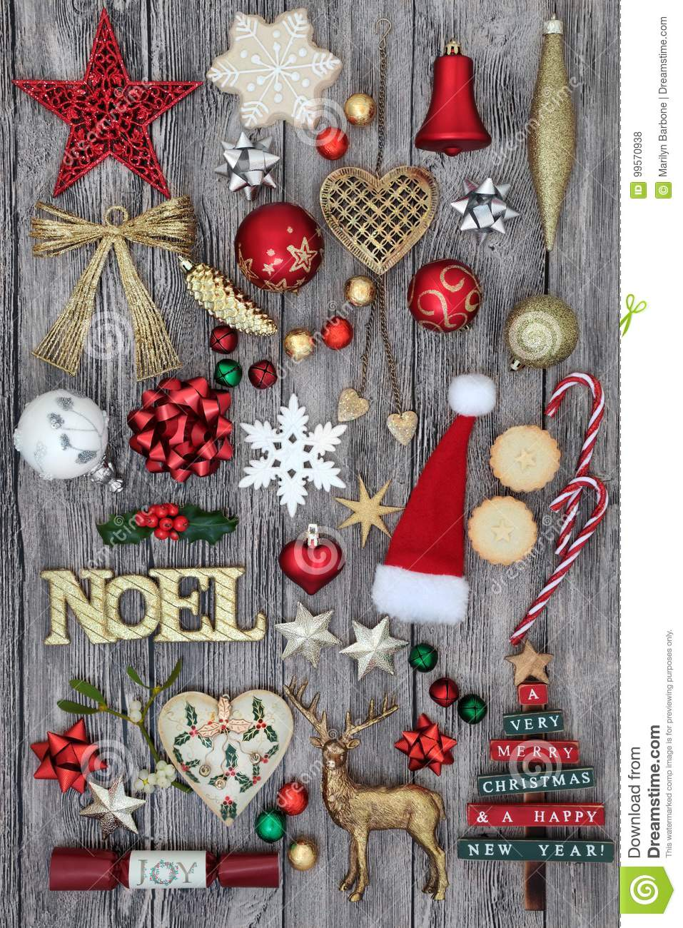 Decoration Biscuit Noel.Christmas Noel Sign And Decorations Stock Photo Image Of