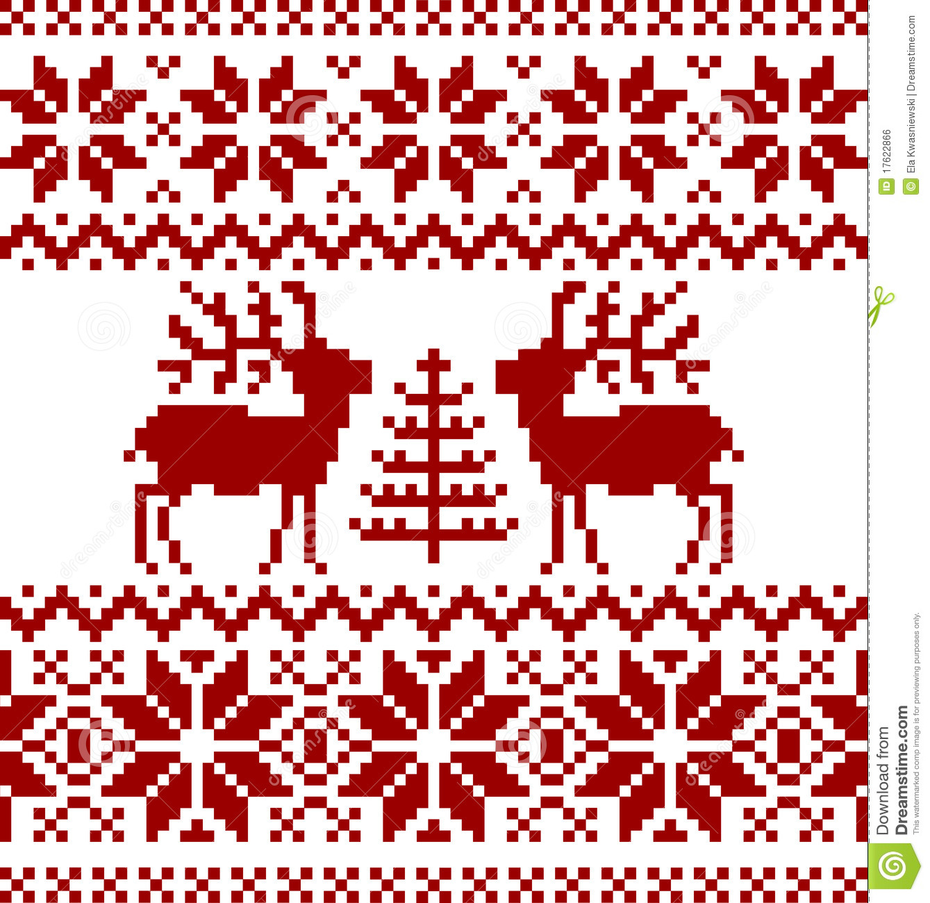 Norwegian Christmas.Christmas Norwegian Pattern Stock Vector Illustration Of